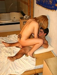 Horny Blond Enjoying Midget Dick